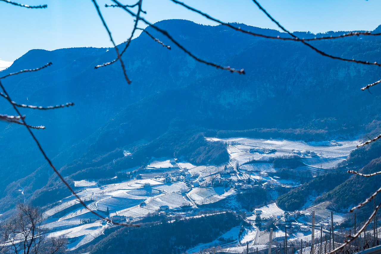 Blick auf Penon im Winter