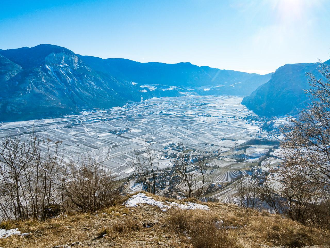 Südtiroler Unterland im Winter