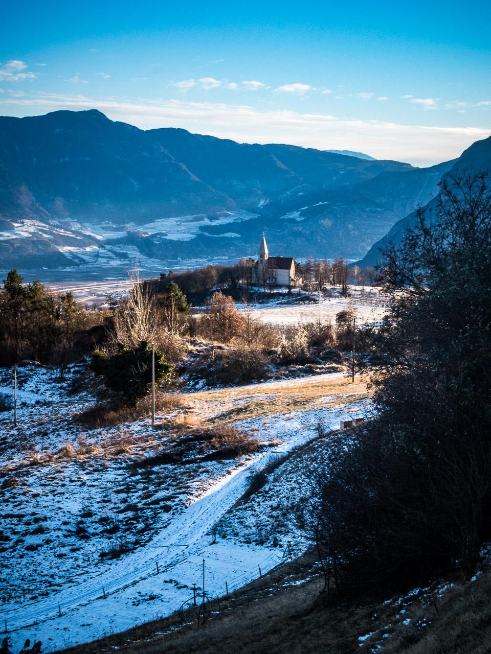 St. Gerorg Kirche in Graun im Winter
