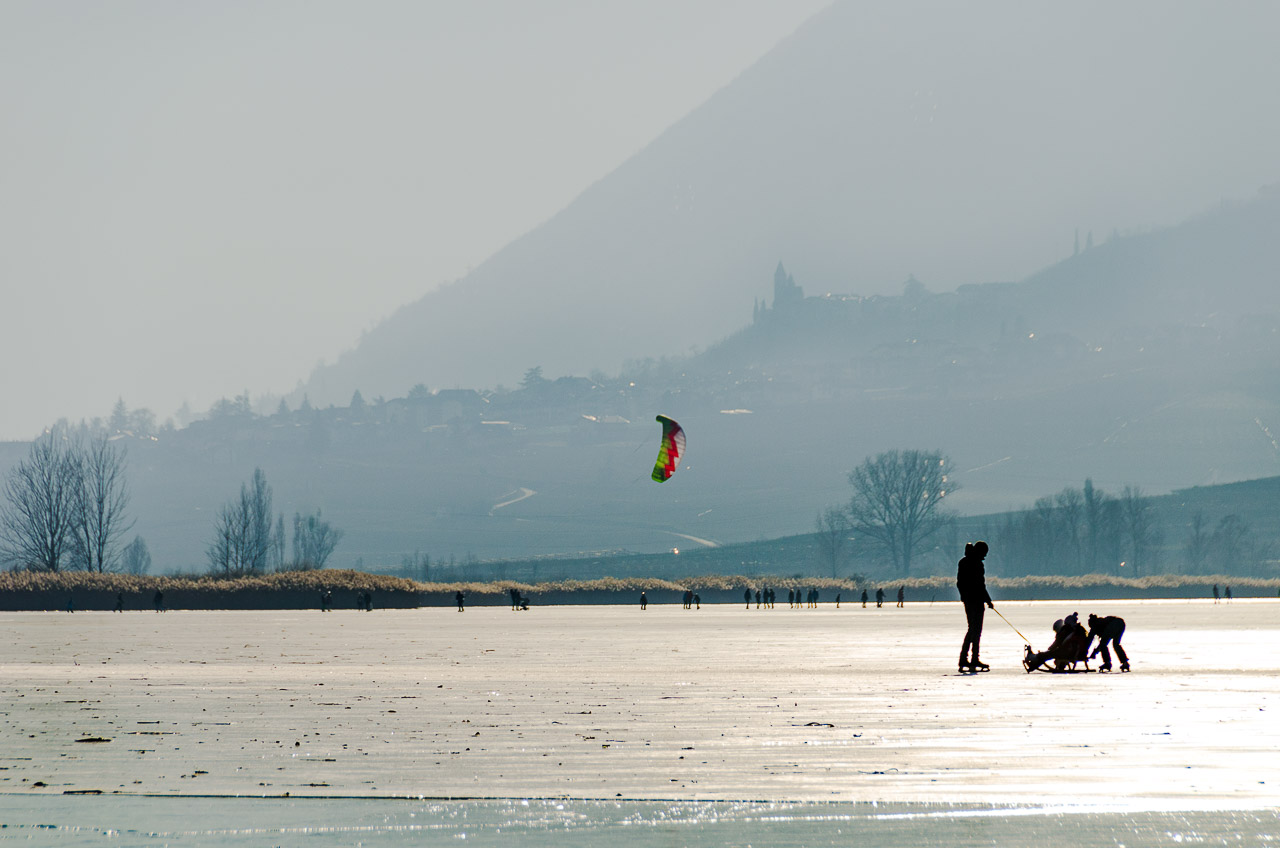 Eiskite auf dem Kalterer See