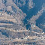 Paragleiter über Montan