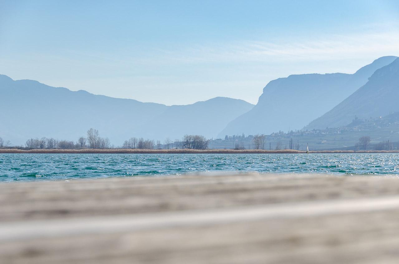 Kalterer See mit Blick auf Tramin