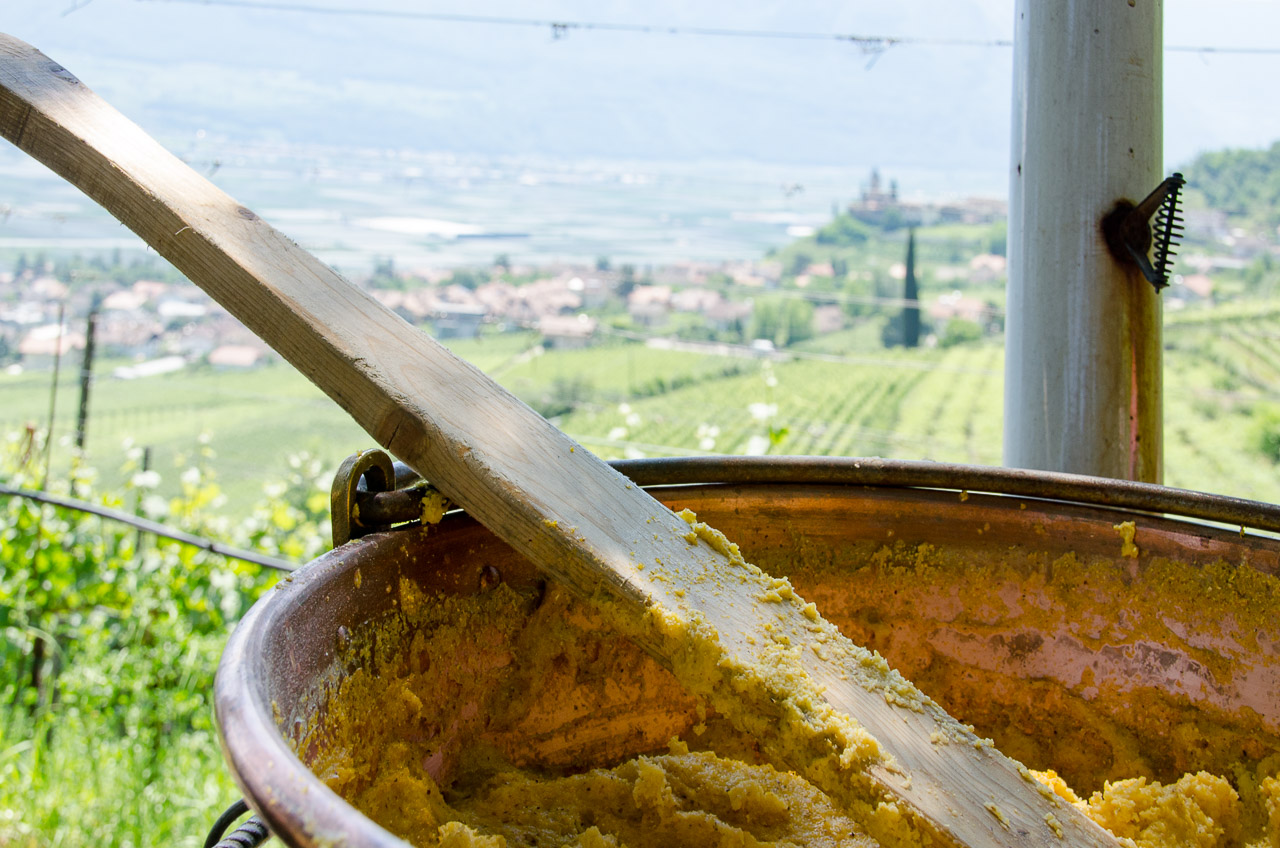 Polenta - Gewürztraminer Weinwandertag Tramin