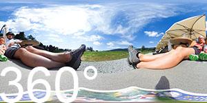 360° vor der Rinderplatz Hütte - coole Bottich-Sessel
