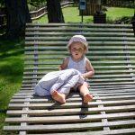 Ann in der Kneipp Anlage Truden