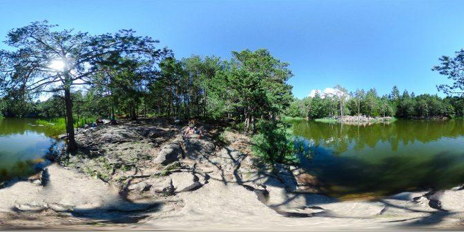 360° am Nordwestufer des Göllersees