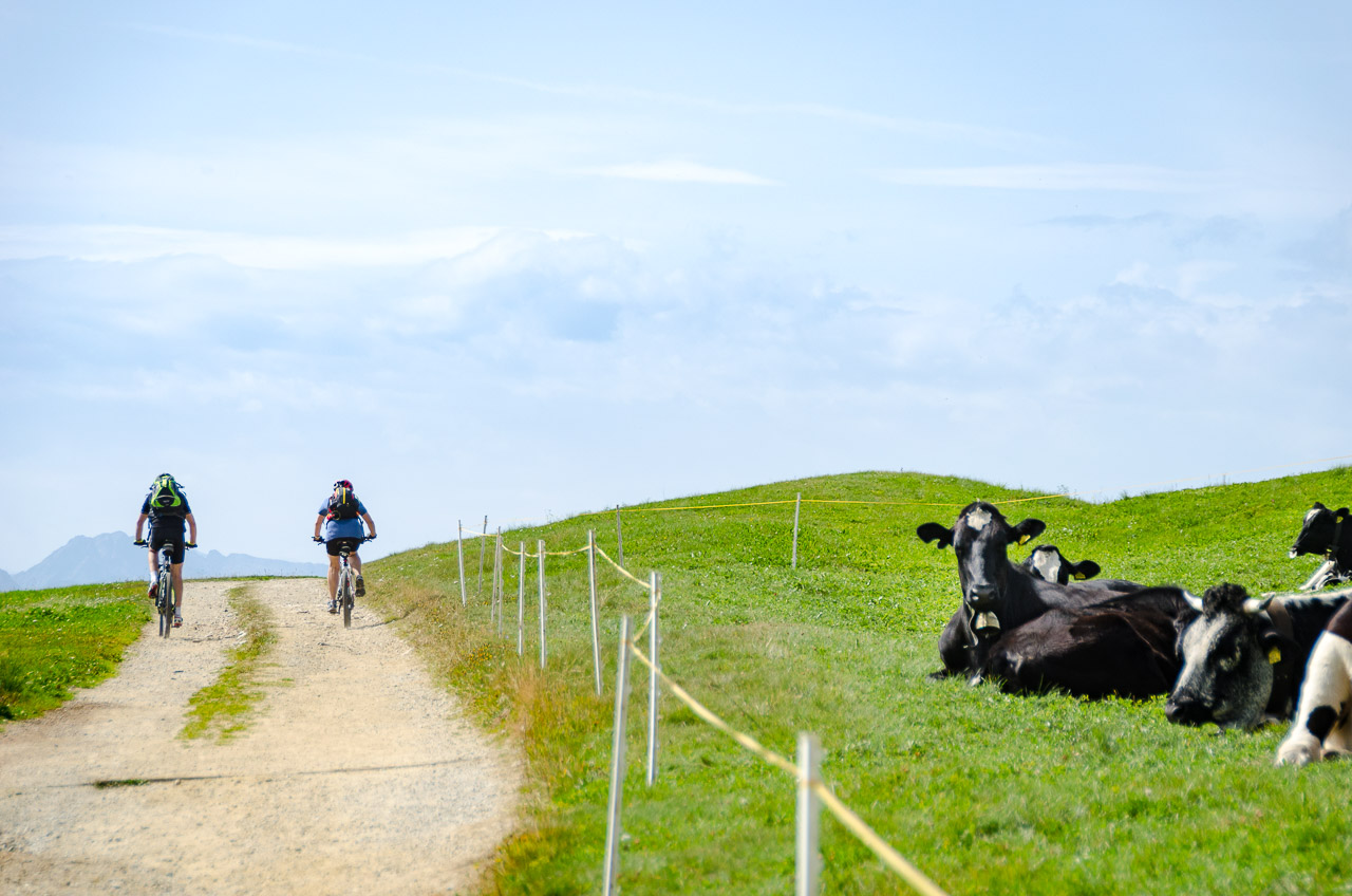 Rad fahren auf der Rodenecker Alm