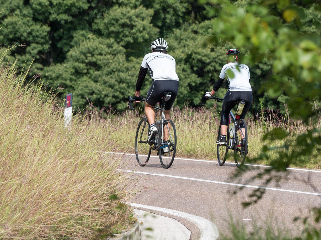 Radfahrer auf dem Weg zum Kreithsattel