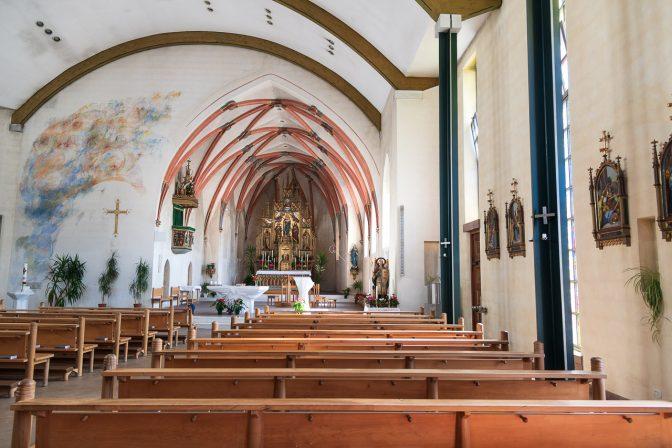 Das Innere der Kirche von Latzfons
