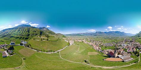 360° über Tramin - Weinberge soweit das Auge reicht