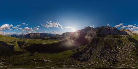 360° über dem Passo San Pellegrino