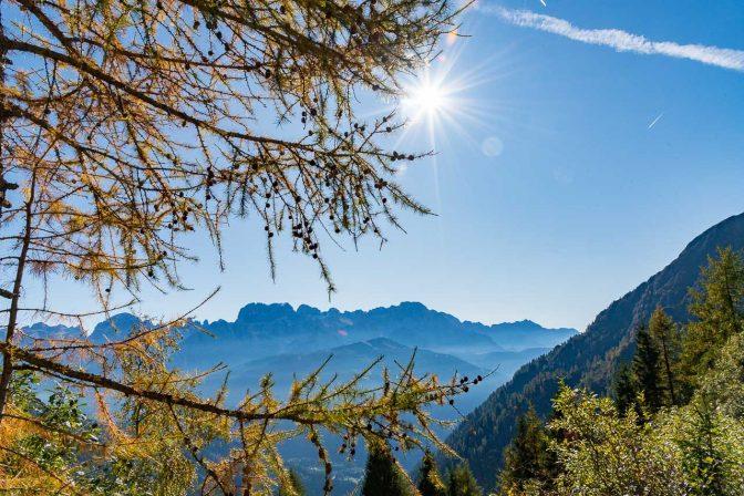 Blick Richtung Brenta Dolomiten