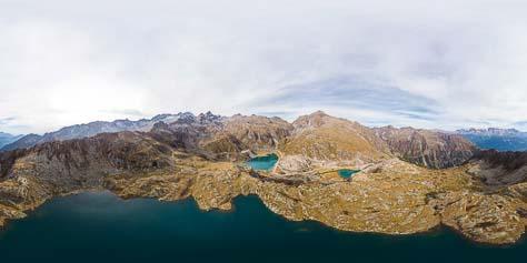 360° Lago Nero und Laghi di Cornisello