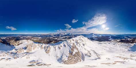 360° auf dem Aldeiner Weißhorn im Winter