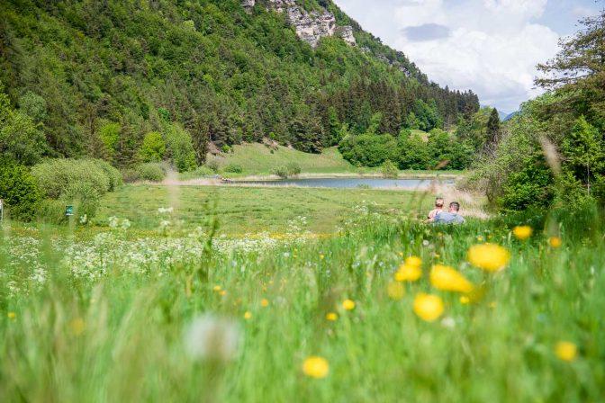 Verliebter Blick auf den Fennberger See