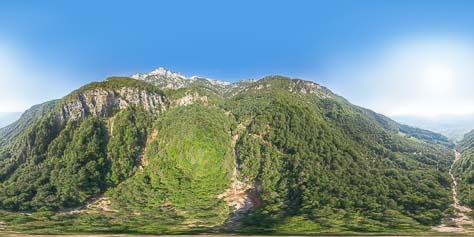 360° Blick auf die beiden Wasserfälle des Höllentalbaches und des Weissenbaches